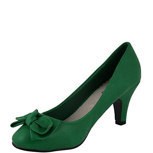 Unbekannt - Zapatos de vestir de Material Sintético para mujer Rojo rojo Rojo - verde
