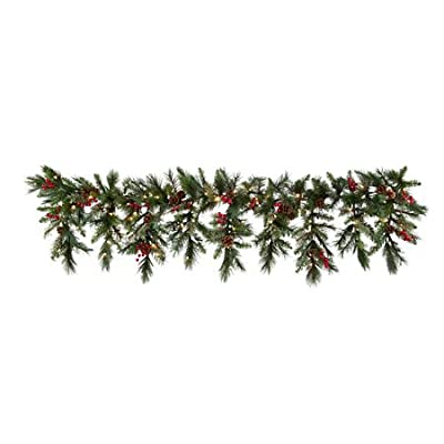 6 Ft LED Lighted Battery Operated Cascading Garland Christmas Holiday Decor