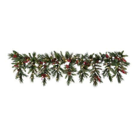 6 Ft LED Lighted Battery Operated Cascading Garland Christmas Holiday Decor by KNL Store