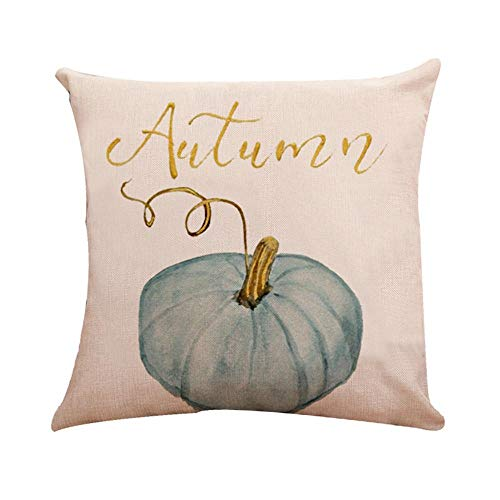 (HGWXX7 Halloween Pumpkin Print Cushion Cover Square Pillow Case Thanksgiving Day Decor for Sofa Bedroom)