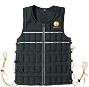 Hyperwear Hyper Vest Elite 15lbs/20lbs max Weight Comfortable Adjustable Weighted Vest for Men or Women with D