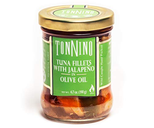 Tonnino Pack of 6 Tuna Fillet With Jalapeno In Olive Oil, 6.7oz