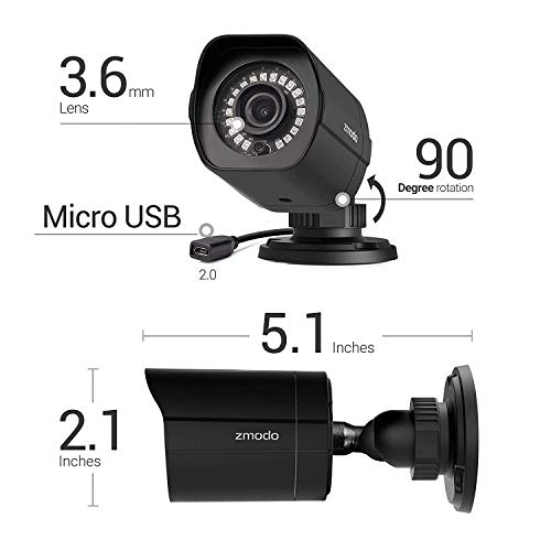 dab0cb6d494 Amazon.com   Zmodo Full HD 1080p Security Camera System w Repeater ...