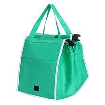Greensun(TM) Reusable Trolly Shopping Cart Bag with Universal Clip Foldable Tote Handbag