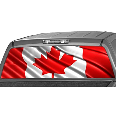Amazoncom CANADIAN FLAG Rear Window Graphic Decal Tint Sticker - Rear window decals for trucks canada