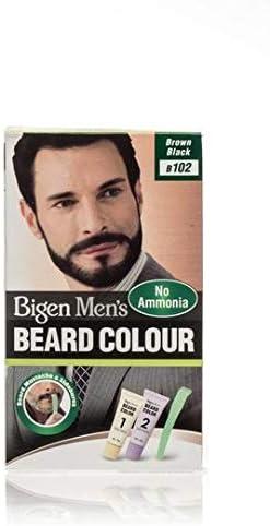 Bigen, Hoyu Co. B102 - Barba para hombre, color marrón y negro