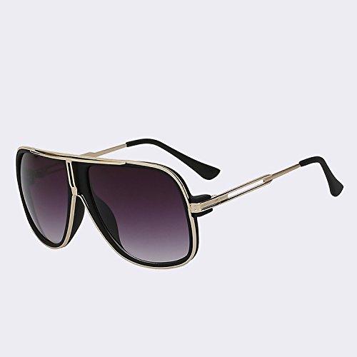 de goma sol de Square sol sol de verano de Gloss TIANLIANG04 de sol gafas marco estilo Gold Masculino hombre mujer de negro gafas Gafas gafas de de Oculos frame black de Hombre ZBOzwTfq