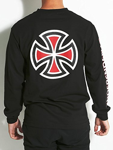 Independent Bar/Cross Men'S Long Sleeve T-Shirt Black (2XL)