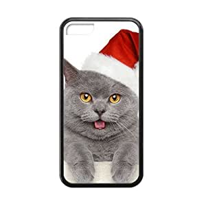 Cute Santa Cat Sticking Out Tongue Phone Case for Iphone 5c