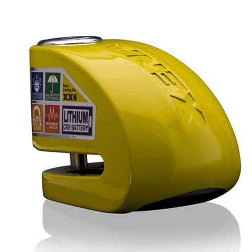 XENA - XX6 Y DISC-LOCK ALARM, MOTORCYCLE LOCK, YELLOW