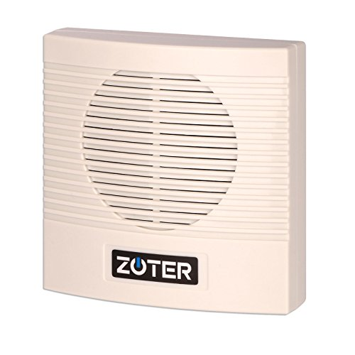Wired Door Bell, ZOTER Doorbell Chime for Home Office Access Control System ABS Plastic White 3 Kinds of Ringtones