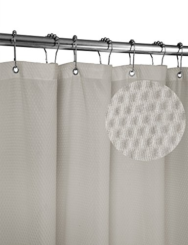 cloth shower curtain liner - 5