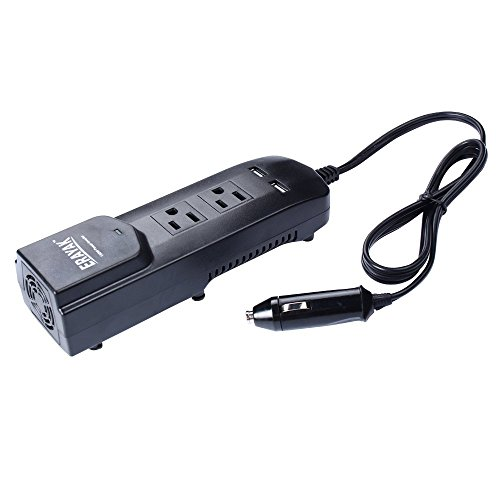 erayak-150w-car-power-inverter-strip-dual-us-outlets-42a-dual-usb-charging-ports-w-car-cigarette-lig