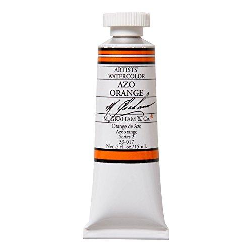 M. Graham 1/2-Ounce Tube Watercolor Paint, Azo Orange (Orange Watercolor)