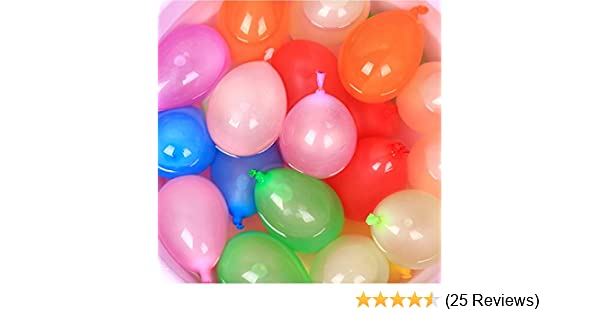 AzBoys 1000pcs Small Latex Water Balloons,Colorful Air Balloons,Biodegradable Summer Splash Water Balloon Toys,for Water Bomb Game Fight Sports Fun Party