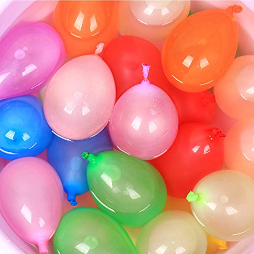 AzBoys 1000pcs Small Latex Water Balloons,Colorful Air Balloons,Biodegradable Summer Splash Water Balloon Toys,for Water Bomb Game Fight Sports Fun Party (Water Biodegradable Balloons)