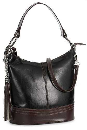 Noir Shop Big Brun femme Handbag Sacoches Bords wpwxOZHq