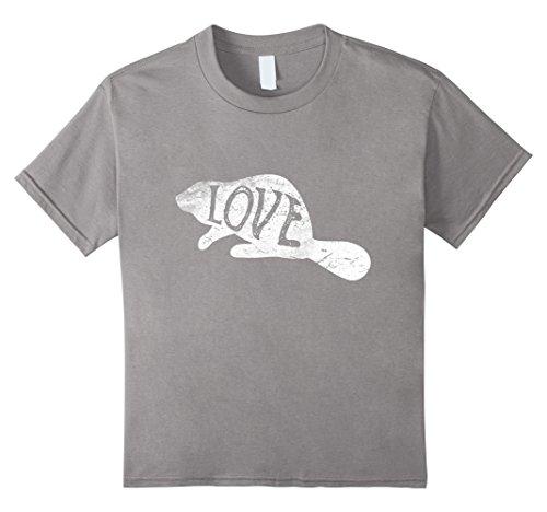 Kids Beaver Silhouette T-Shirt Love Beavers Tee Wildlife Gifts 12 Slate - Wildlife Beaver