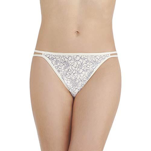 Cotton Long Print Underwear (Vanity Fair Women's Illumination String Bikini Panty 18108, Tranquil Lace Print, Small/5)
