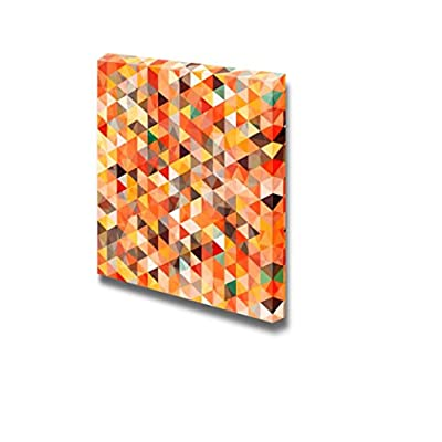 Canvas Prints Wall Art - Abstract Triangle Seamless Fashion Mosaic Pattern | Modern Wall Decor/Home Decoration Stretched Gallery Canvas Wrap Giclee Print & Ready to Hang - 24