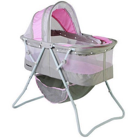 Dream On Me Karley Bassinet (Grey and Pink)