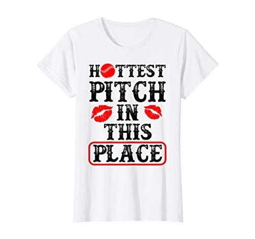 (Hottest Pitch Softball Lips Kiss T Shirt Cute Funny)