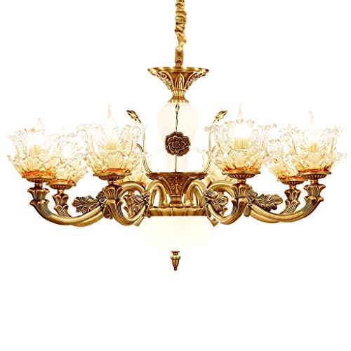 xury Jade Chandelier Jane European Crystal Candle Living Room lamp zinc Alloy Warm Bedroom Dining Room lamp Lighting ()