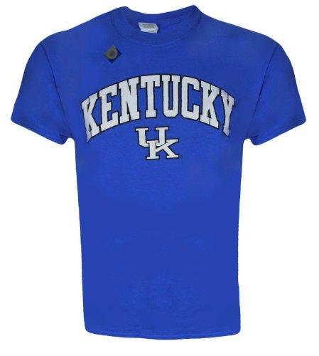 NCAA Champions University of Kentucky Wildcats UK Basketball : Kentucky Arch T-Shirt on Short Sleeve Blue