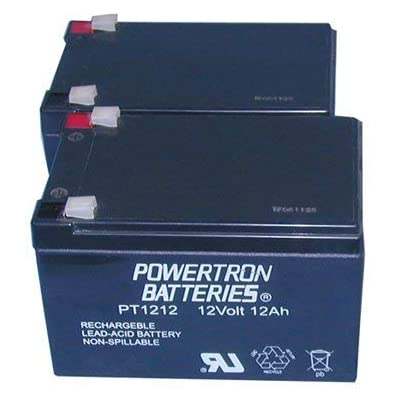Powertron 2 12 Volt 12AH Rechargeable Electric Scooter E-Bike Battery Boreem : Sports Scooter Batteries : Sports & Outdoors
