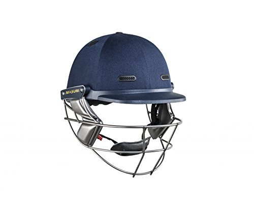 MASURI VS Test Steel Adult Cricket Helmet, Navy, Regular by Masuri by Masuri