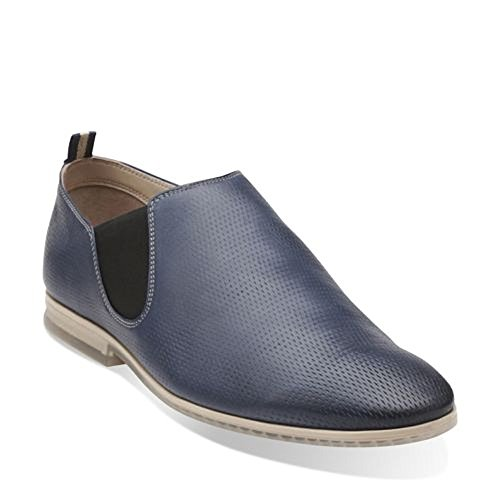 Clarks Mens Frewick Slip-on Mocassino Blu