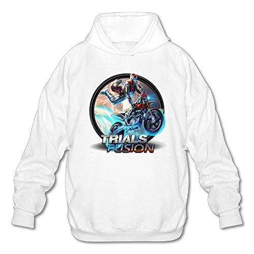 SAMMOI Trials Fusion 3 Men's Athletic Long Sleeve Hoodie L White (Fusion 3 Case Otterbox)