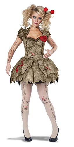 California Costumes Women's Voodoo Dolly Costume, Tan,