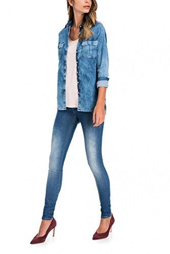 Jeans Moyenne Wonder dlavage Up Bleu Taille et Premium Salsa Push Skinny Jambe adxAXaqfw