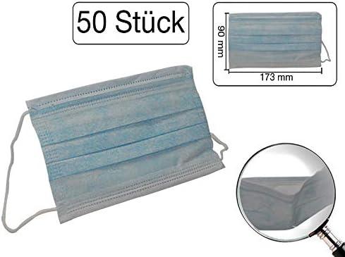 50 Stk Staubmasken Einweg dreilagig Mundschutz Hygienemaske OP Maske unsteril