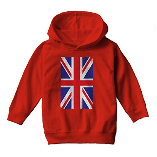 Tcombo Big United Kingdom Flag - Union Jack - Toddler Little Boy Hoodie Sweatshirt (4T, ()