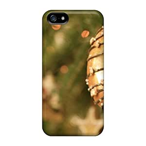 Iphone 5/5s KyW2734SXtx Christmas Donut Ornament Tpu Silicone Gel Case Cover. Fits Iphone 5/5s