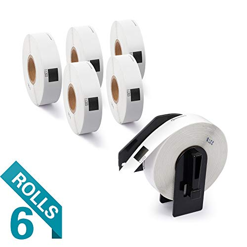 Airmall 6 Rolls Compatible with DK-1203 File Folder Labels Paper, 2/3