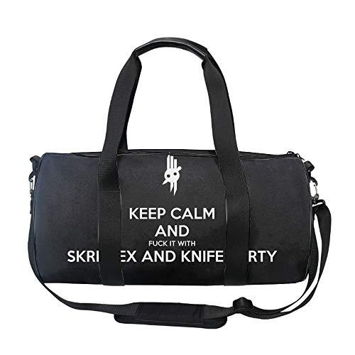 Skrillex Knife Party Dub Gym Duffle Bag Drum tote Fitness Shoulder Handbag Messenger Bags