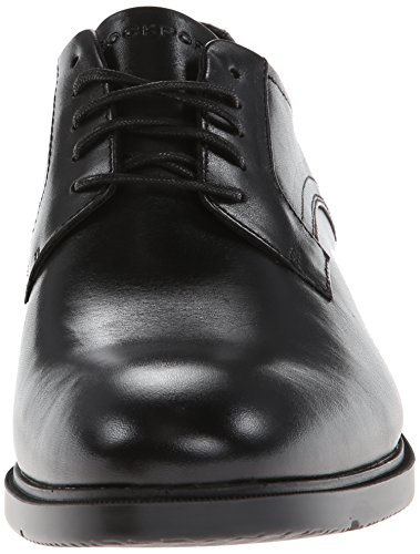 Rockport Mens City Smart Plain-Toe Derby Shoe, Black
