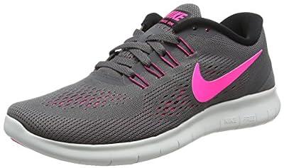 Nike Womens Free RN Running Shoes Dark Grey/Pink Blast 831509-006 Size 10