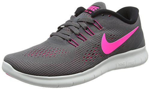 NIKE Womens Free RN Running Shoes Dark Grey/Pink Blast 831509-006 Size 10 (Shoes Nike Lifting)
