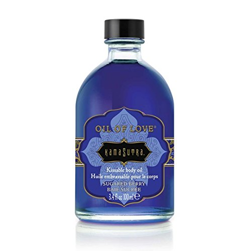 Kama Sutra Company Oil Of Love Kissable Body Oil Sugared Berry 3.4 Ounce