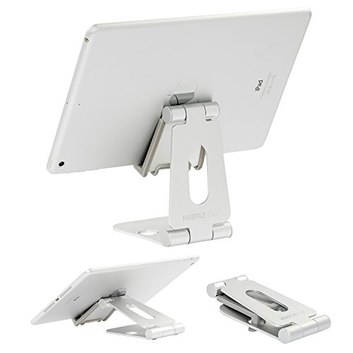 Ipad Tablet and Cell Phone Stand for Desk | Adjustable Phone Holder for Desk with 3-Way Folding Design for The Perfect Viewing Angle | Foldable, Portable for 4-11 inch iPhone, Cellphone