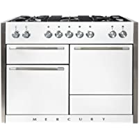 AGA AMC48DF 48 Freestanding Dual Fuel Range with 5 Sealed Brass Burners 17K BTU Power Burner Continuous Enamel Coated Grates Infinite Style Burner Controls Three Ovens 8-Pass Broiler (