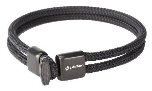 phiten(ファイテン)RAKUWAブレスX100 カーボン アクアチタン tg635 B00GOPGYWI ブラック 17cm