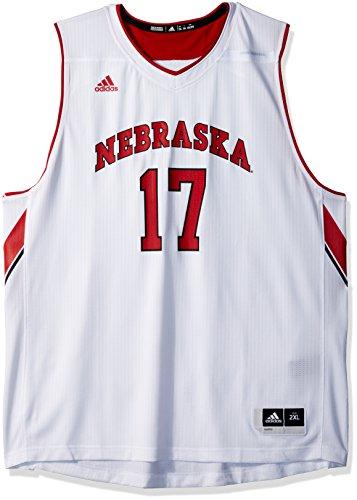 (adidas NCAA Nebraska Cornhuskers Mens Replica Basketball Jerseyreplica Basketball Jersey, White, XX-Large)