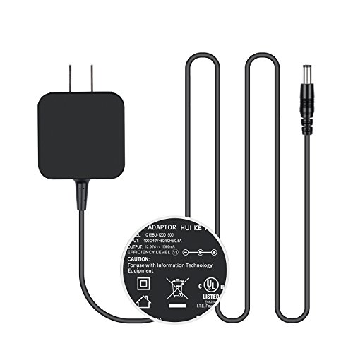 [UL Listed]TFDirect 12Volt 1.5Amp Power Adapter,AC to DC,2.1X5.5mm Barrel Plug,AC 100-240V Converter Adapter DC 12V 1.5A (12V 0.5A,1A,1.5A Compatible) Replacement Power Supply 12V US Wall charger Plug