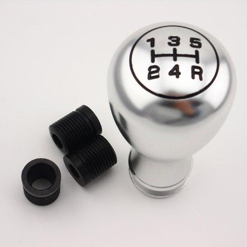 Silver Universal Fit Car Auto Gear Lever Stick Shift Knob - 6