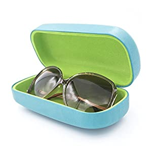 Hard Eyeglass & Sunglasses Case | Oversized To Protect Glasses w/Large to Extra Large Frames | AS505 Teal